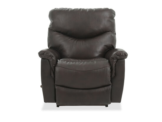 "Leather 39"" Rocker Recliner in Brown"