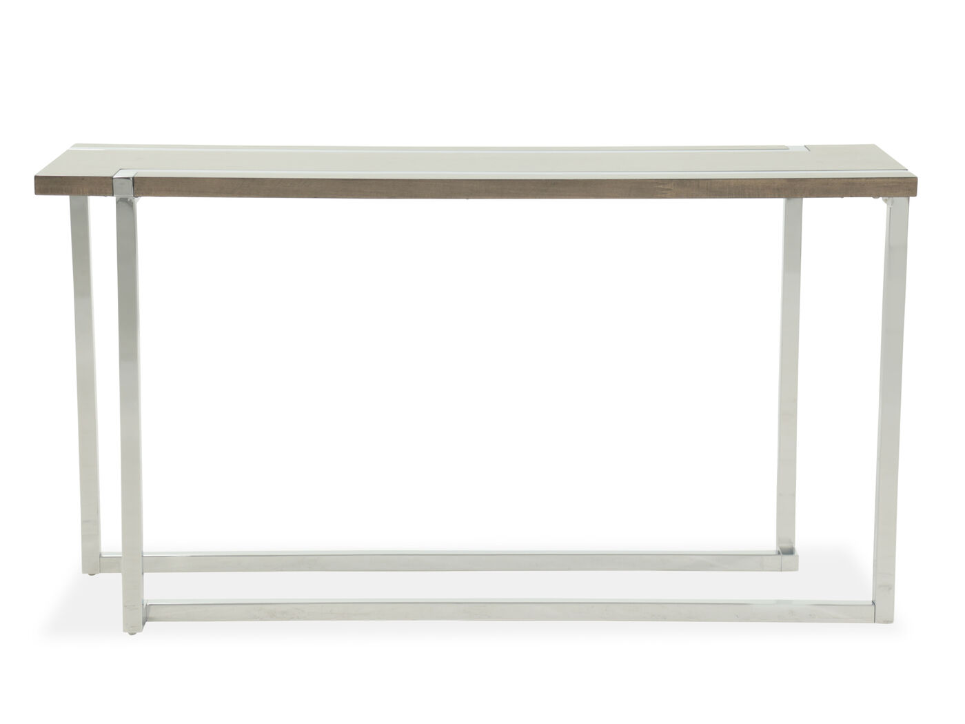 L Shaped Base Transitional Sofa Table In Gray Mathis Brothers  ~ Transitional Sofa Tables