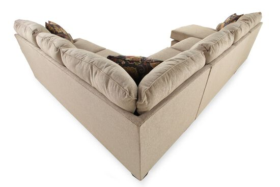 """Casual 135"""" Sectional in Medium Brown"""
