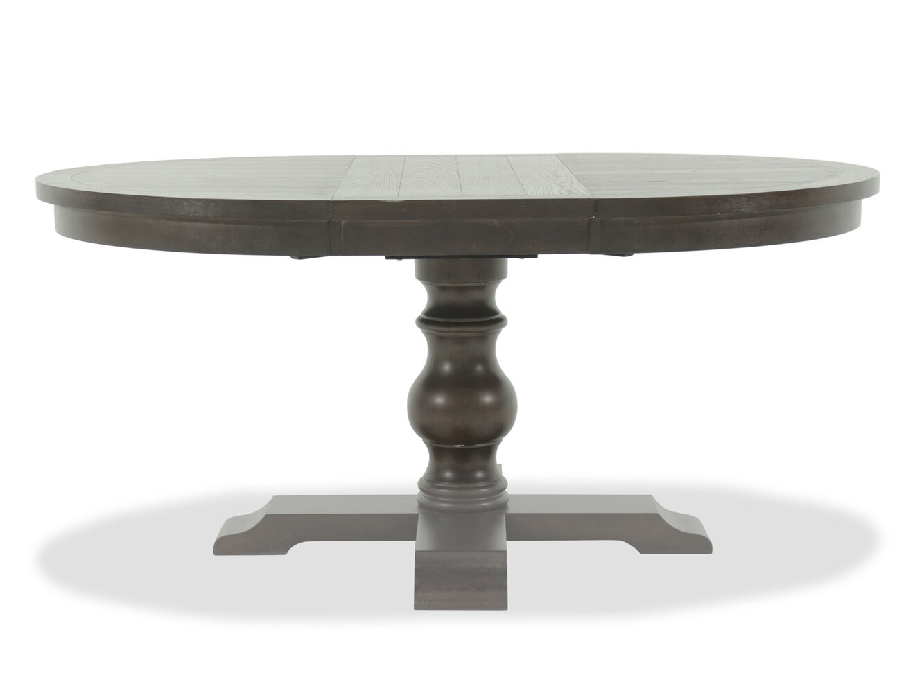 Traditional 66 Quot Pedestal Dining Table In Dark Espresso