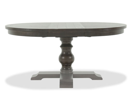 "Traditional 66"" Pedestal Dining Table in Dark Espresso"