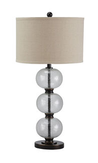 Casual Stacked Glass Orb Table Lamp