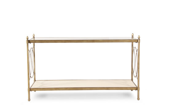 Interlocking circle accented contemporary sofa table in for Table 6 in as 3725