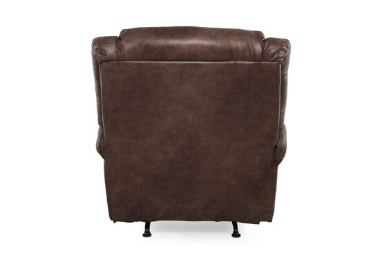 "Traditional 44"" Rocker Recliner in Dark Mocha"