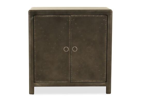 Casual Accent Cabinet in Dark Gray