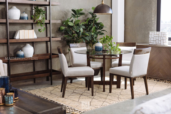"Contemporary 35"" Dining Chair in Beige"