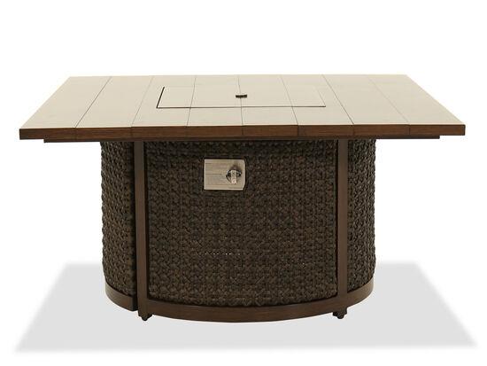 Woven Fire Pit Coffee Table in Ebony