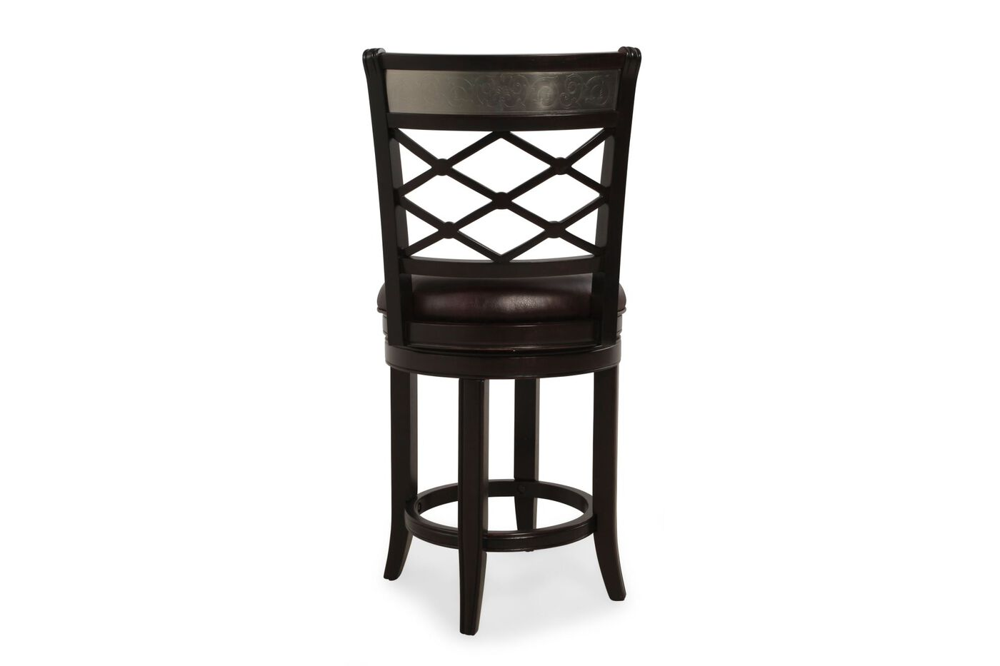 Woven Back 43 Quot Swivel Bar Stool In Espresso Mathis