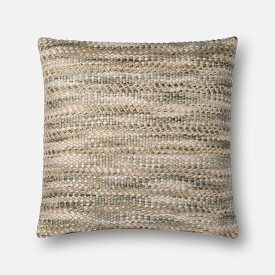 """Contemporary 22""""x22"""" Cover w/Down Pillow in Natural"""