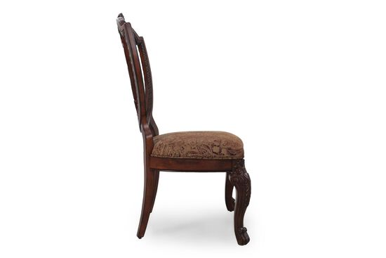 Shield-Frame 44.5'' Side Chair in Dark Pomegranate