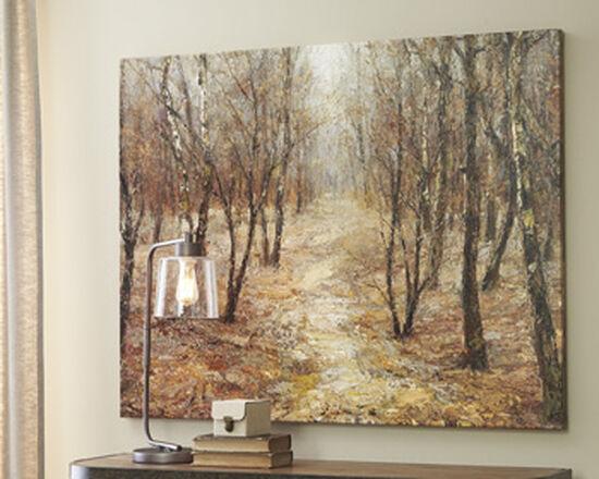 Casual Tree Canvas Wall Art in Brown/Tan/Gray/Peach/Cream