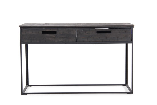 Two drawer contemporary sofa table in black mathis - Contemporary console tables with drawers ...