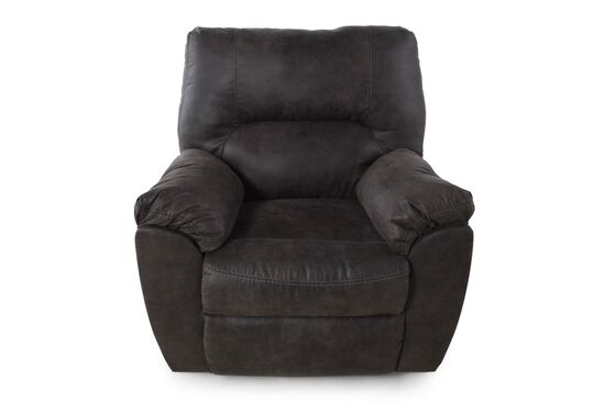 "Contemporary 41"" Rocker Recliner in Dark Pewter"