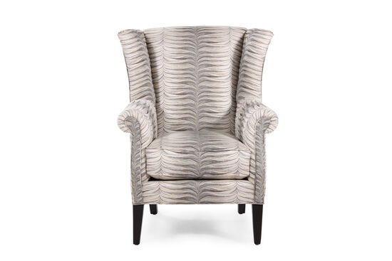 """Swirl Patterned Contemporary 35"""" Chair in Cream"""