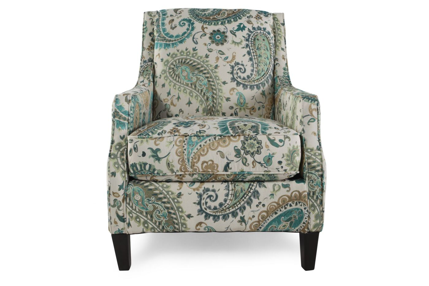 Paisley Patterned Casual Accent Chair Mathis Brothers