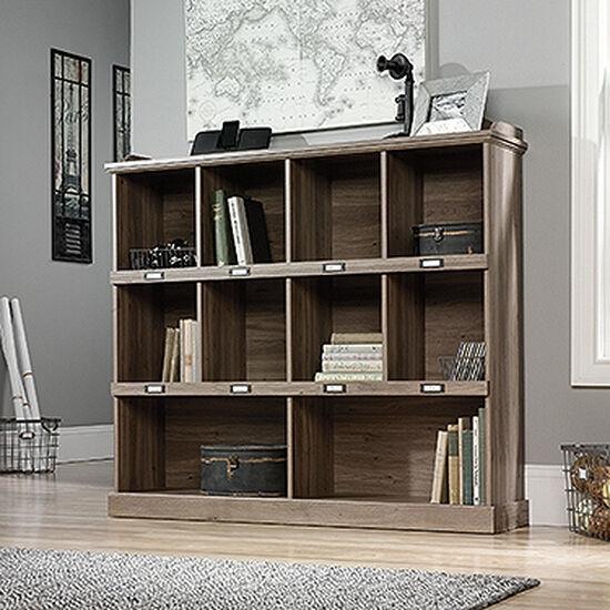 Transitional Open Bookcase in Salt Oak