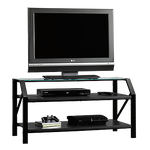 Steel Frame Casual TV Stand in Black