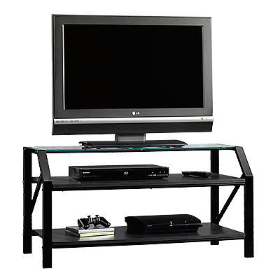 Images Steel Frame Casual TV Stand In Black Steel Frame Casual TV Stand In  Black
