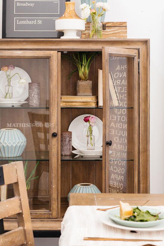 Casual Display Cabinetin Brown