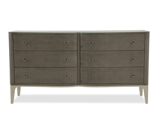"35"" Mid-Century Modern Heathered Dresser in Light Oak"
