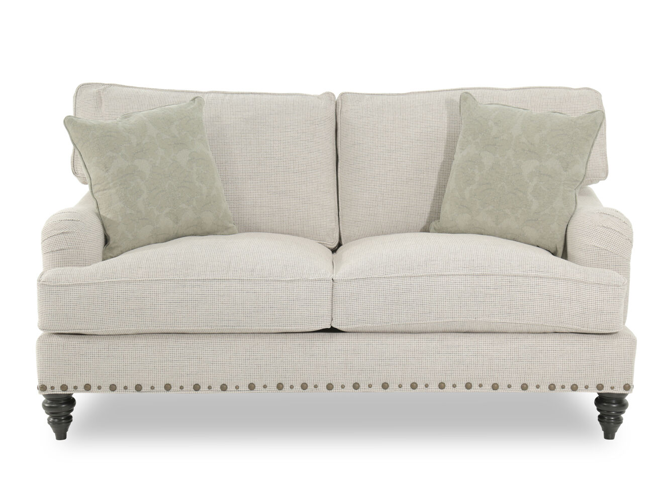 loveseat set fabric steal and poundex aron yellow sofa furniture outlet a