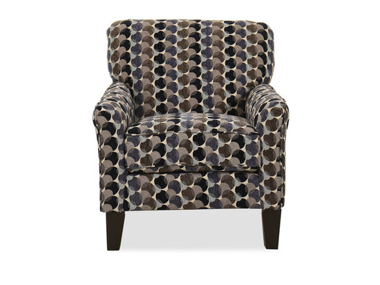 """30"""" Bubble-Patterned Transitional Accent Chair in Multi"""