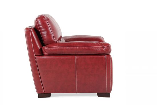 "Contemporary Leather 45"" Chair in Salsa"