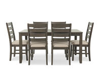 Ashley Rokane Brown Rectangle Seven-Piece Dining Set