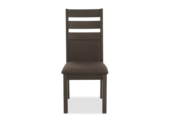 "Contemporary 41"" Ladderback Side Chair in Dark Brown"