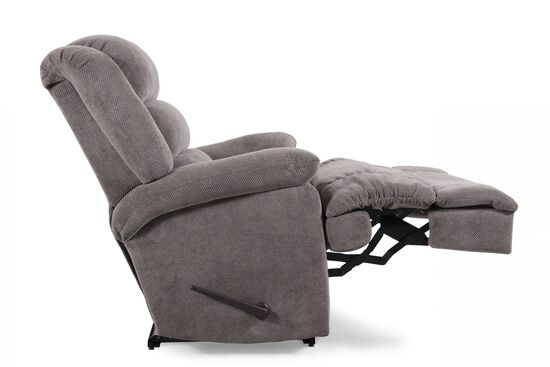 """Wall Saver Contemporary 44"""" Recliner in Gray"""
