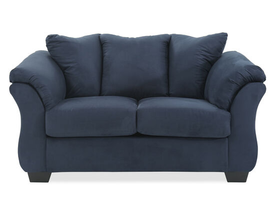 "Contemporary 67"" Loveseat in Blue"