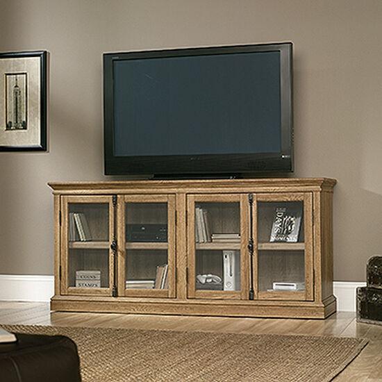 Adjustable Shelf Transitional Storage Credenzain Scribed Oak