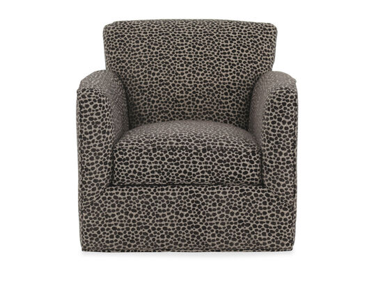 "Patterned Casual 34"" Swivel Chair"