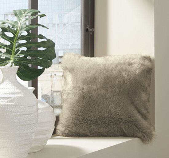 """20"""" Square Pillow in Tan"""