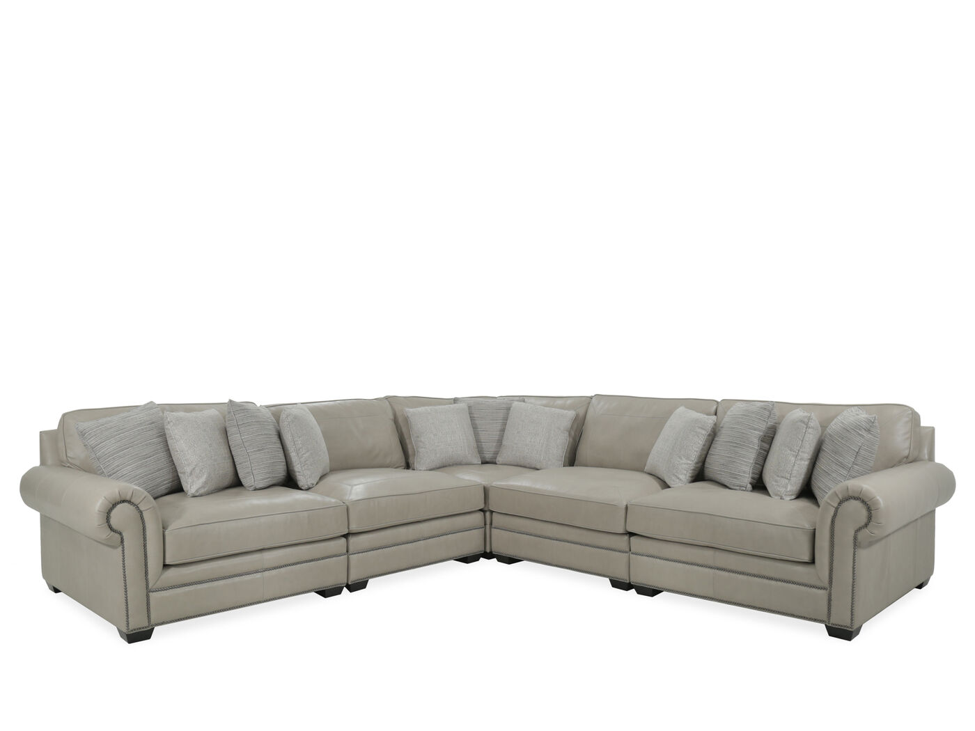 Five Piece Leather Sectional In Beige Mathis Brothers Furniture ~ Five Piece Sectional Sofa