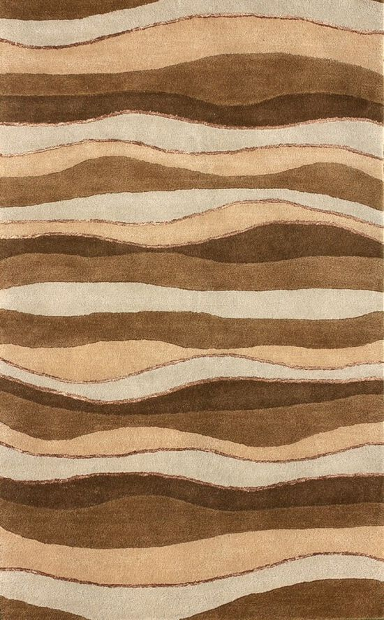 "Lb Rugs|Br-12  (br)|Hand Tufted Wool 2'-6"" X 10'