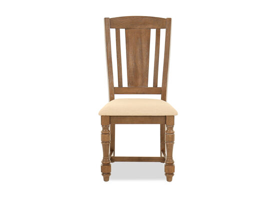 "Traditional 40"" Slat Back Side Chair in Espresso"