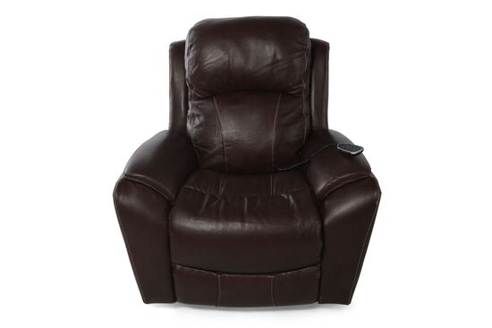 "Contemporary Leather 40"" XR+ Power Recliner in Dark Cocoa"
