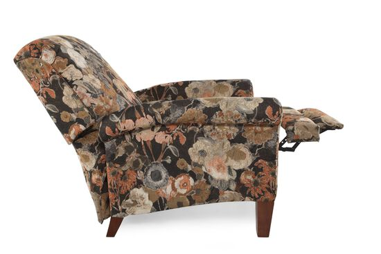 """Floral Patterned Contemporary 40.5"""" Wall Saver Recliner"""