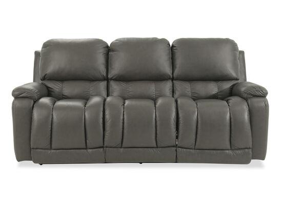 "Casual 85"" Power Reclining Sofa in Gray"