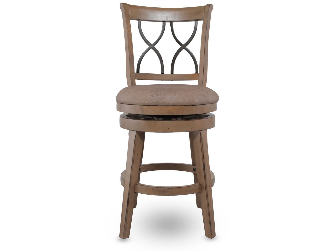 Distressed 42 5 Quot Swivel Bar Stool In Brown Mathis