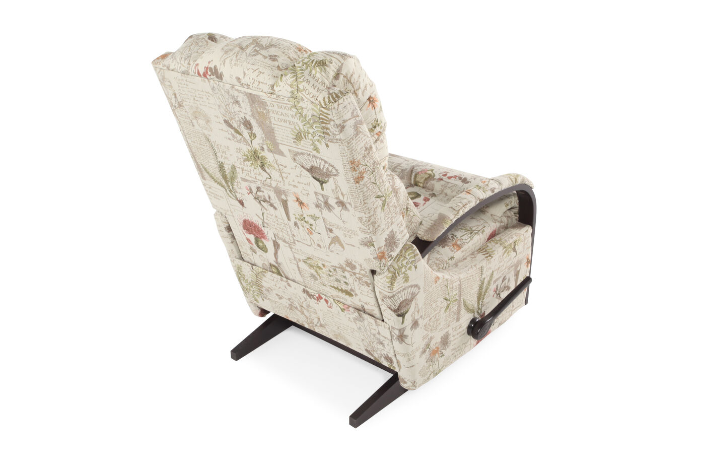 Floral Patterned Rocker Recliner In Cream Mathis