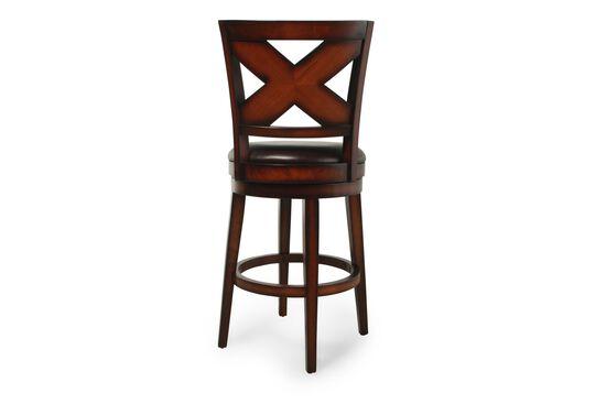 "X-Back 45"" Bar Stool in Medium Brown"