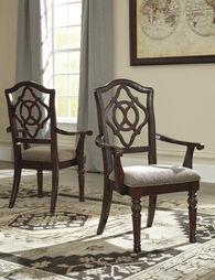 Ashley Leahlyn Reddish Brown Upholstered Arm Chair