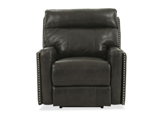 Leather Power Recliner in Black