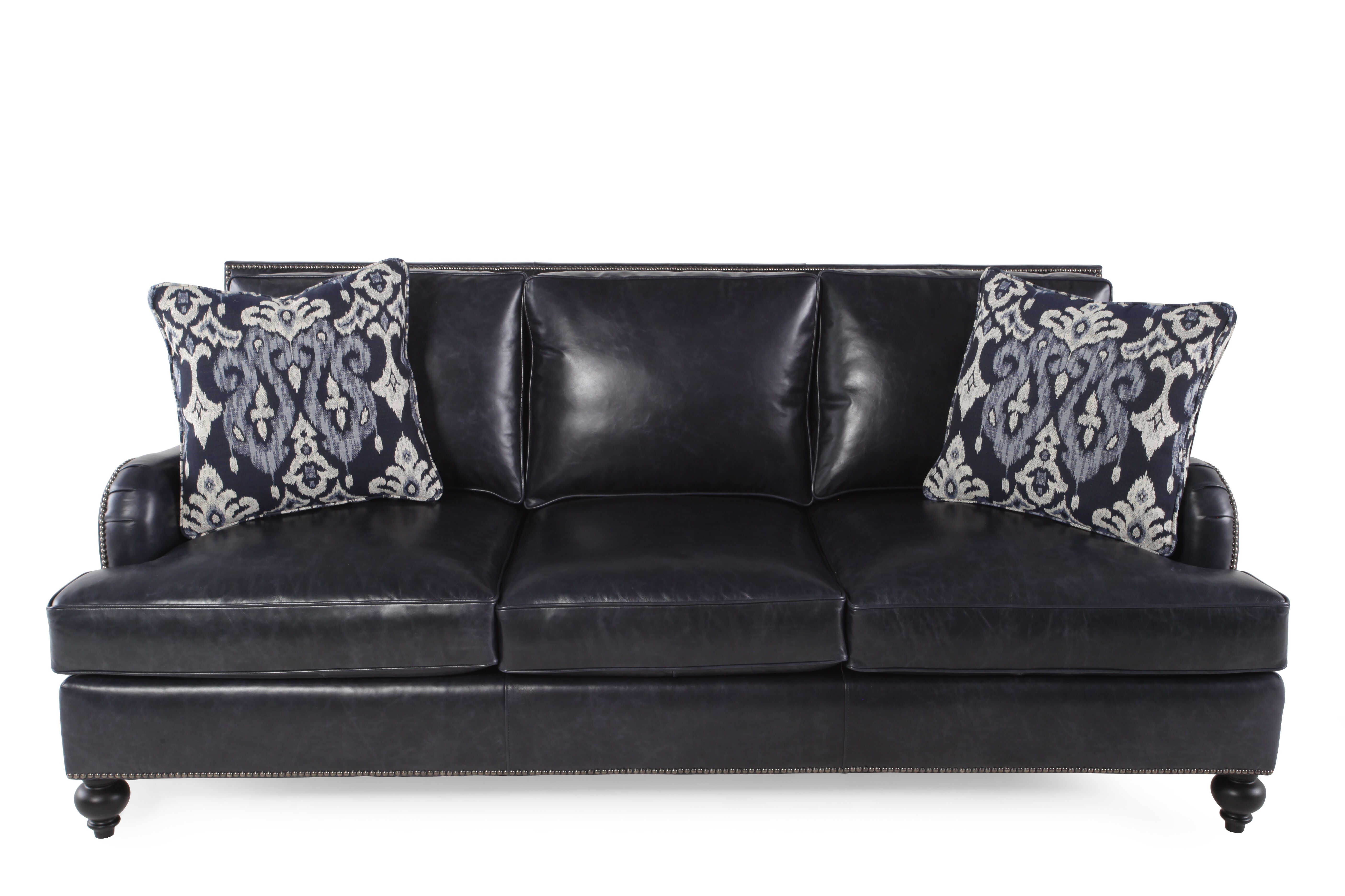Bernhardt Beckford Leather Sofa