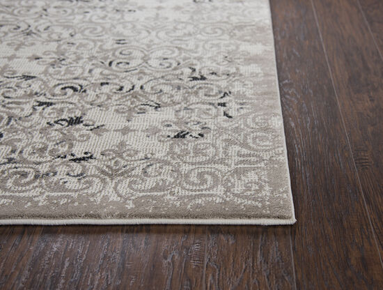 Transitional Power-Loomed 6.7 x 9.6 Rectangle Rug in Beige