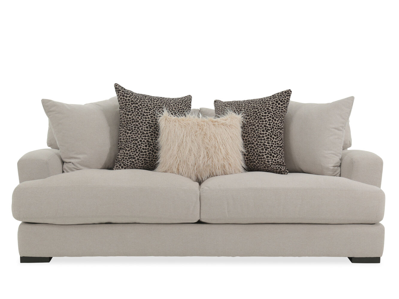 Contemporary 87 Quot Sofa In Beige Mathis Brothers Furniture