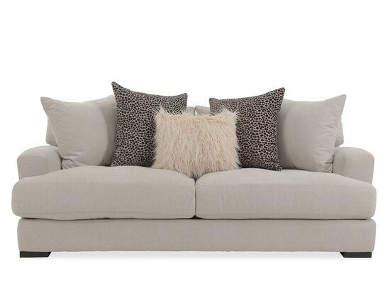 "Contemporary 87"" Sofa in Beige"