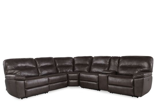 Boulevard Leather Match Six-Piece Sectional